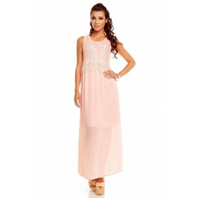 Rózsaszín hosszú női ruha