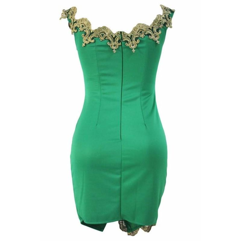 Női ruha kiegészítőkkel Vanda zöld | Bellago.hu