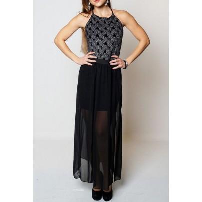 Női hosszú ruha Shia fekete