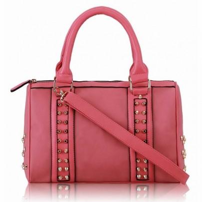 Női szegecses táska rózsaszín