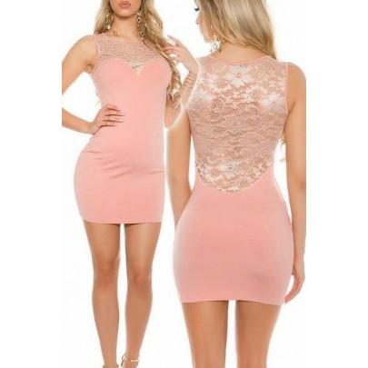 Női csipkés ruha Monita rózsaszín