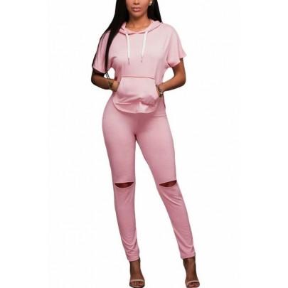Női divatos szett Keily - rózsaszín