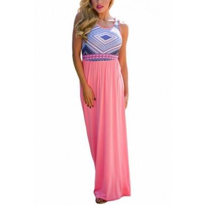 Hosszú női ruha Kali - light pink