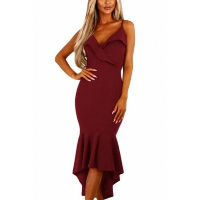Női ruha Samantha - burgundi