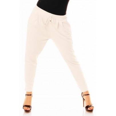 Női divatos fehér nadrág