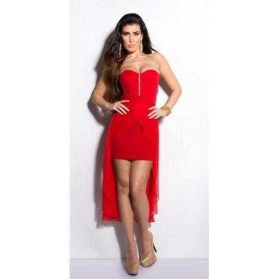 Divatos piros ruha Emma