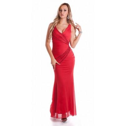 Hosszú piros alkalmi ruha Anastasia
