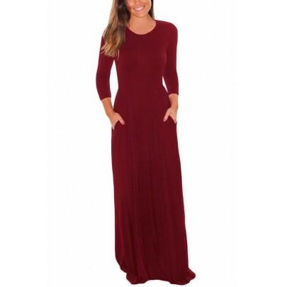 Hosszú női ruha Lisa - burgundy bordó
