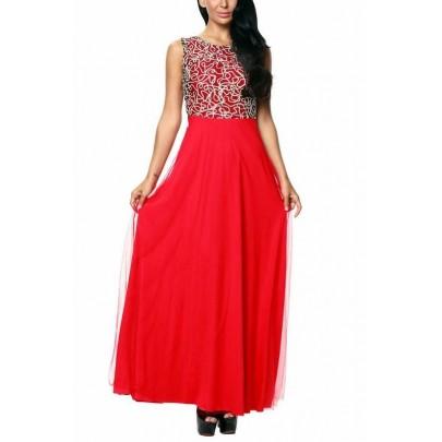 Hosszú női ruha Renata - piros