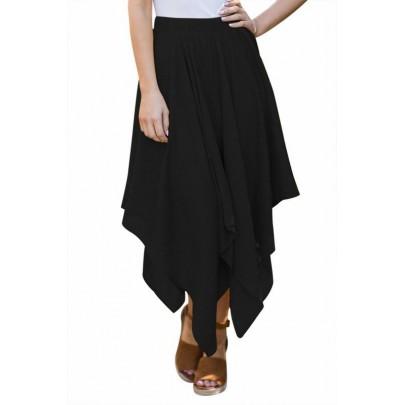 Női szabálytalan szoknya - fekete
