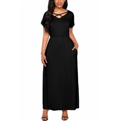 Hosszú női ruha Skylar - fekete