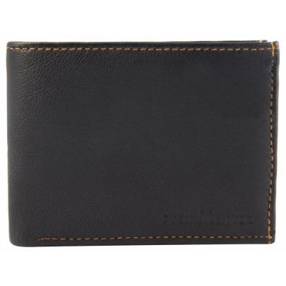 Férfi bőr pénztárca - barna/fekete