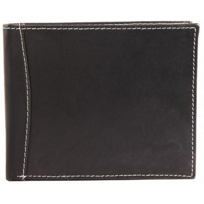 Férfi bőr pénztárca - feketefehér