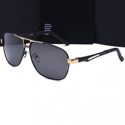 Polarizált pilóta napszemüveg Luxury - arany fekete