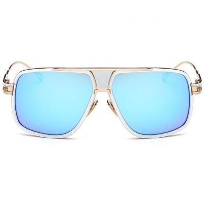Napszemüveg Hawk fehér kék üveg