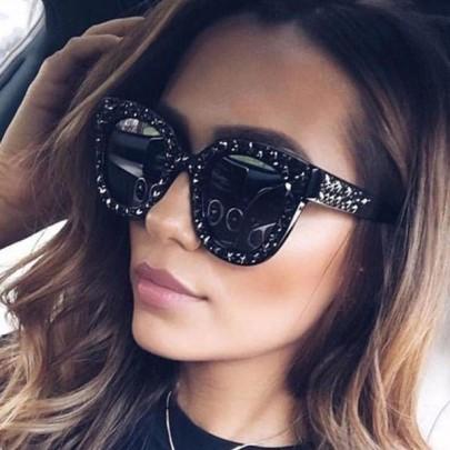 Női napszemüveg Stars fekete