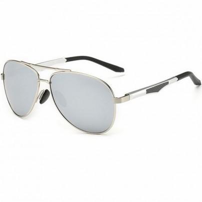 Polarizált pilóta napszemüveg Aron ezüst üveg