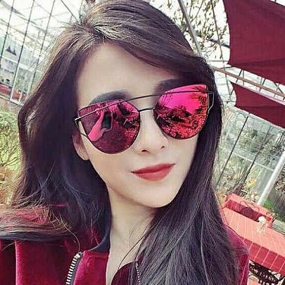 Női napszemüveg Glam piros