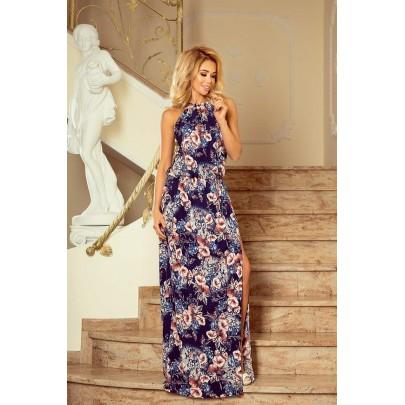 Divatos hosszú női virágos ruha 191-2