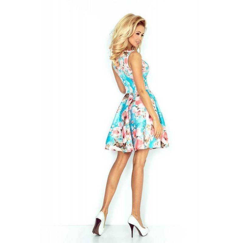 ... Vonzó ruha nyomtatott Fiametta - kék v125-15 c02388b359
