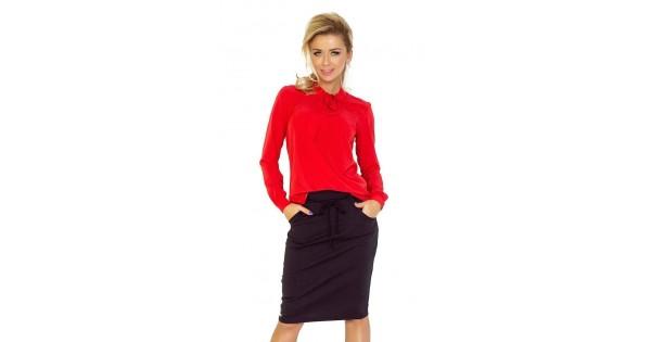 30b335aa11 Elegáns női blúz - piros v140-3 | Bellago.hu