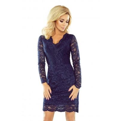 Elegáns női ruha Giona - sötét kék v170-2