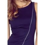 Aszimmetrikus női ruha Cindy - sötét kék MM 004-2