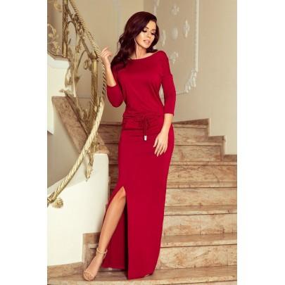 Női bordó hosszú ruha EDDA 220-3