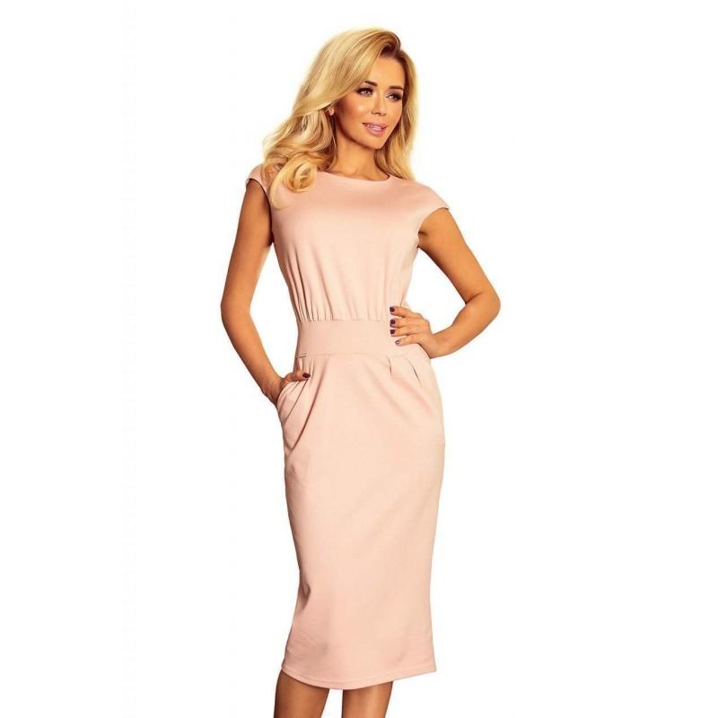 ... Elegáns midi női ruha Edita -rózsaszín 144-6 ... 87ce4b356d