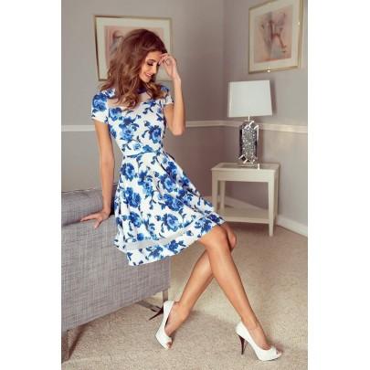 Stílusos női ruha Diane - fehér vMM 003-3