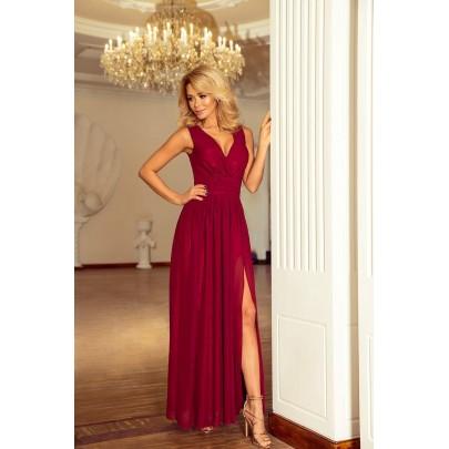 Gyönyörű női ruha Bona burgundi 166-3