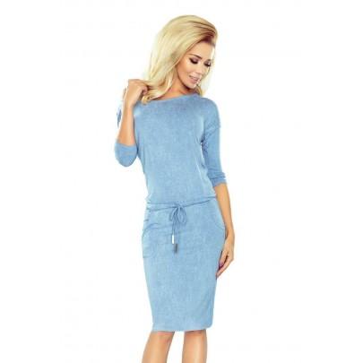 Sötét kék stílusos női ruha 13-80