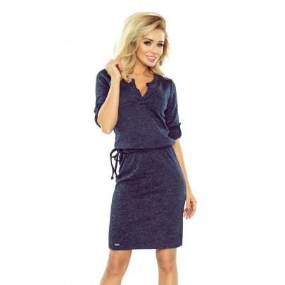 Galléros női ruha Pietra - sötét kék 161-8