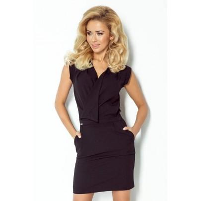Attraktív női ruha Kirsten - fekete 94-4