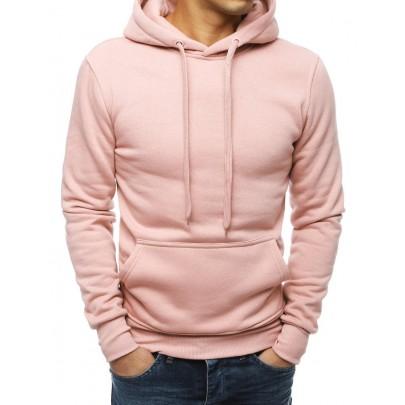 Egyszerű férfi rózsaszín pulóver bx4845