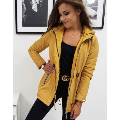 Érdekes női téli kabát kamel színben ty0832