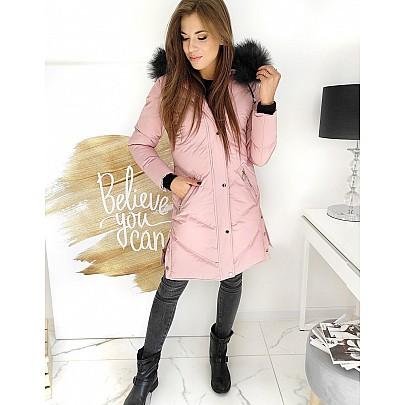 Hosszított rózsaszín női kabát ty1508