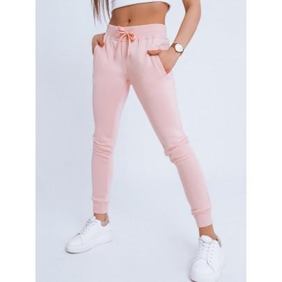Női kényelmes rózsaszín melegítőnadrág uy0763