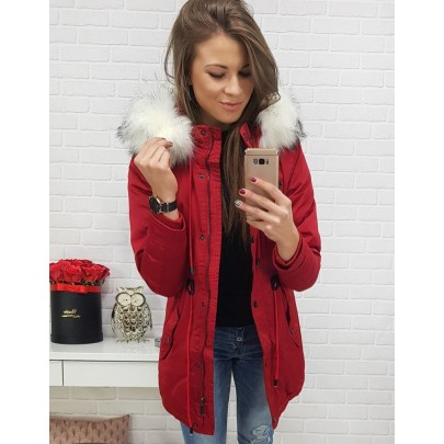 Stílusos téli női dzseki piros vty0444 | Bellago.hu