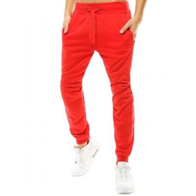 Egyszerű piros férfi melegítőnadrág ux2812