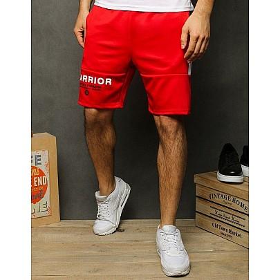 Kényelmes férfi piros rövidnadrág felirattal sx1165