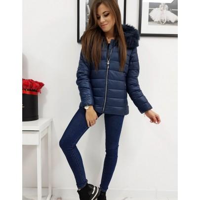 Női modern téli kabát kék színben ty1010