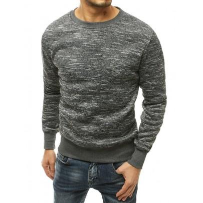 Férfi elegáns feketés szürke pulóver bx4818