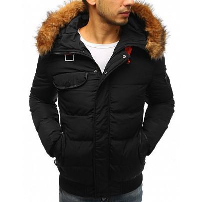 Érdekes férfi téli dzseki - fekete tx2526