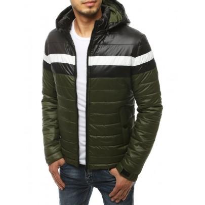 Férfi zöld steppelt kabát tx3437