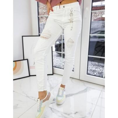 Női trendi fehér farmernadrág uy0721