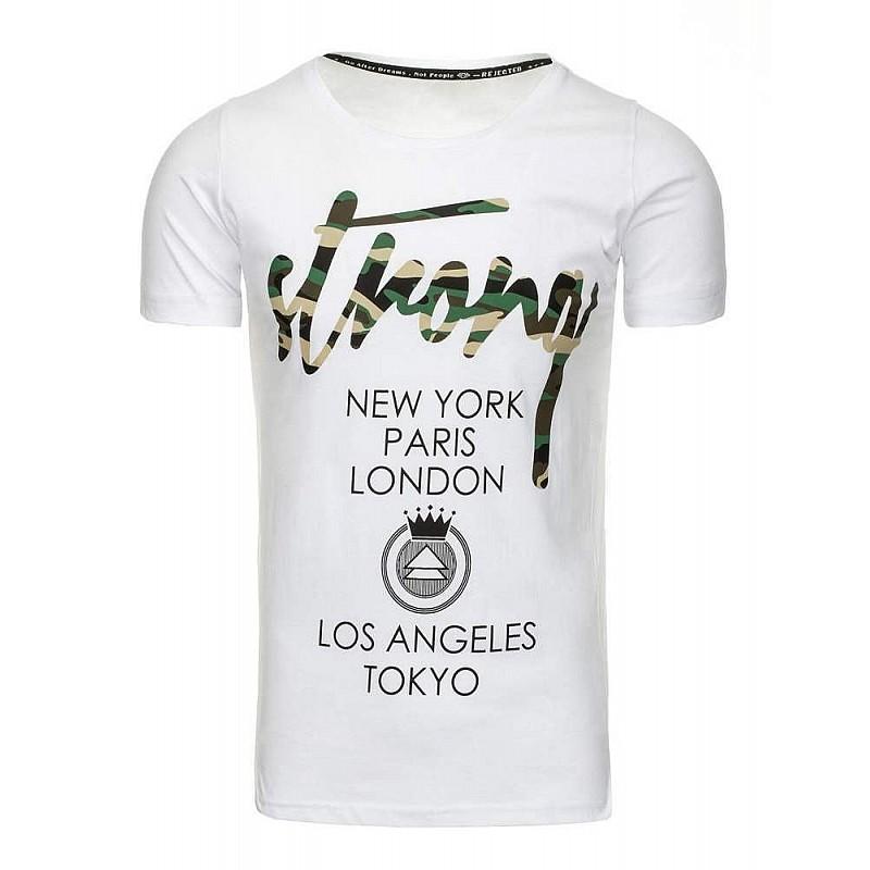 0b87ddd798 Trendy férfi póló feliratos - fehér rx2192 | Bellago.hu