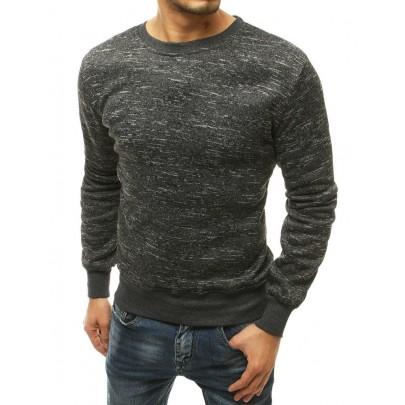 Férfi elegáns feketés szürke pulóver bx4817