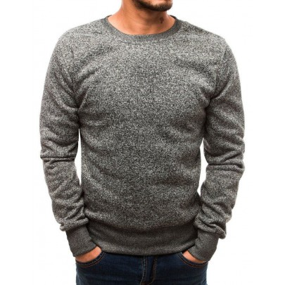 Férfi elegáns szürke pulóver bx2361
