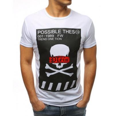 Fehér férfi póló nyomtatással rx3183
